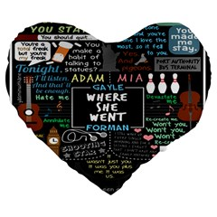 Book Quote Collage Large 19  Premium Heart Shape Cushions by BangZart