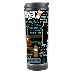 Book Quote Collage Travel Tumbler by BangZart