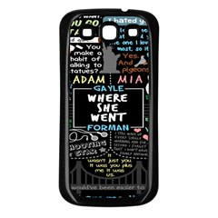 Book Quote Collage Samsung Galaxy S3 Back Case (black) by BangZart