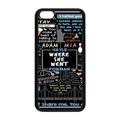 Book Quote Collage Apple Iphone 5c Seamless Case (black) by BangZart