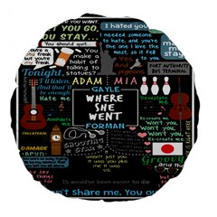Book Quote Collage Large 18  Premium Flano Round Cushions by BangZart