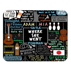 Book Quote Collage Double Sided Flano Blanket (large)  by BangZart