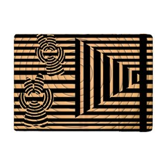 Wooden Pause Play Paws Abstract Oparton Line Roulette Spin Apple Ipad Mini Flip Case by BangZart