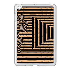 Wooden Pause Play Paws Abstract Oparton Line Roulette Spin Apple Ipad Mini Case (white) by BangZart