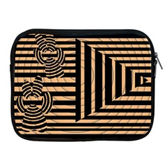 Wooden Pause Play Paws Abstract Oparton Line Roulette Spin Apple Ipad 2/3/4 Zipper Cases by BangZart