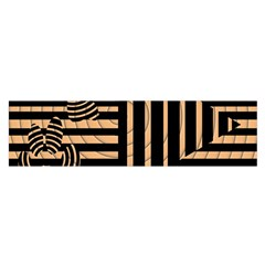 Wooden Pause Play Paws Abstract Oparton Line Roulette Spin Satin Scarf (oblong) by BangZart