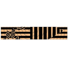 Wooden Pause Play Paws Abstract Oparton Line Roulette Spin Flano Scarf (large) by BangZart