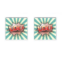 Lol Comic Speech Bubble  Vector Illustration Cufflinks (square)