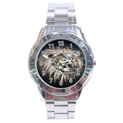 Lion Robot Stainless Steel Analogue Watch by BangZart