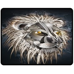 Lion Robot Double Sided Fleece Blanket (medium)  by BangZart
