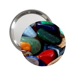 Stones Colors Pattern Pebbles Macro Rocks 2 25  Handbag Mirrors by BangZart