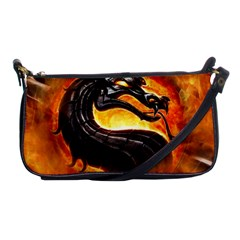 Dragon And Fire Shoulder Clutch Bags by BangZart
