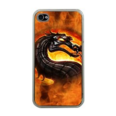 Dragon And Fire Apple Iphone 4 Case (clear) by BangZart