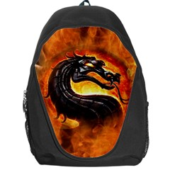 Dragon And Fire Backpack Bag by BangZart