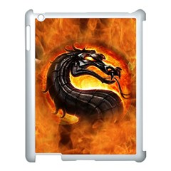 Dragon And Fire Apple Ipad 3/4 Case (white) by BangZart