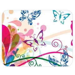 Butterfly Vector Art Double Sided Flano Blanket (medium)  by BangZart