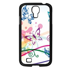 Butterfly Vector Art Samsung Galaxy S4 I9500/ I9505 Case (black) by BangZart