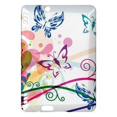 Butterfly Vector Art Kindle Fire Hdx Hardshell Case by BangZart
