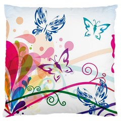 Butterfly Vector Art Standard Flano Cushion Case (two Sides) by BangZart