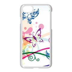 Butterfly Vector Art Apple Iphone 7 Seamless Case (white) by BangZart
