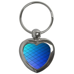 Blue Pattern Plain Cartoon Key Chains (heart)  by BangZart