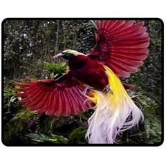 Cendrawasih Beautiful Bird Of Paradise Fleece Blanket (medium)  by BangZart