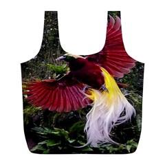 Cendrawasih Beautiful Bird Of Paradise Full Print Recycle Bags (l)  by BangZart