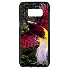 Cendrawasih Beautiful Bird Of Paradise Samsung Galaxy S8 Black Seamless Case by BangZart