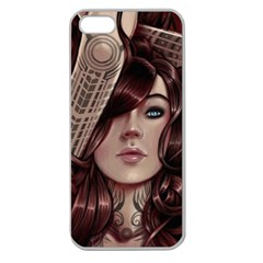 Beautiful Women Fantasy Art Apple Seamless Iphone 5 Case (clear)