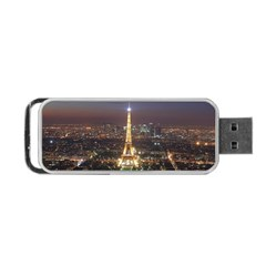 Paris At Night Portable Usb Flash (one Side)