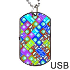 Pattern Factory 32b Dog Tag Usb Flash (two Sides) by MoreColorsinLife