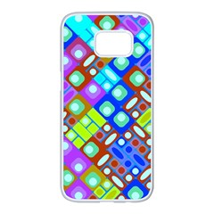 Pattern Factory 32b Samsung Galaxy S7 Edge White Seamless Case by MoreColorsinLife