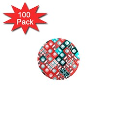 Pattern Factory 32d 1  Mini Magnets (100 Pack)  by MoreColorsinLife
