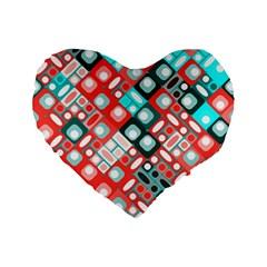 Pattern Factory 32d Standard 16  Premium Flano Heart Shape Cushions by MoreColorsinLife