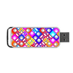 Pattern Factory 32a Portable Usb Flash (one Side) by MoreColorsinLife