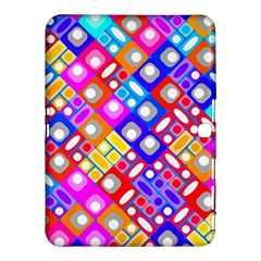Pattern Factory 32a Samsung Galaxy Tab 4 (10 1 ) Hardshell Case  by MoreColorsinLife