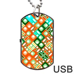 Pattern Factory 32c Dog Tag Usb Flash (two Sides) by MoreColorsinLife