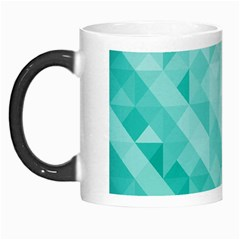 Bright Blue Turquoise Polygonal Background Morph Mugs by TastefulDesigns
