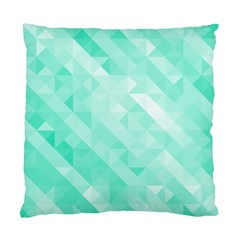 Bright Green Turquoise Geometric Background Standard Cushion Case (two Sides) by TastefulDesigns