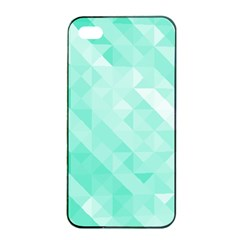 Bright Green Turquoise Geometric Background Apple Iphone 4/4s Seamless Case (black) by TastefulDesigns