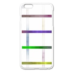 Blurred Lines Apple Iphone 6 Plus/6s Plus Enamel White Case by designsbyamerianna