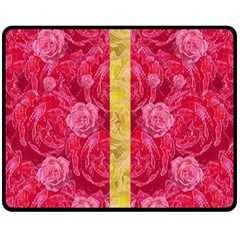 Rose And Roses And Another Rose Double Sided Fleece Blanket (medium)  by pepitasart