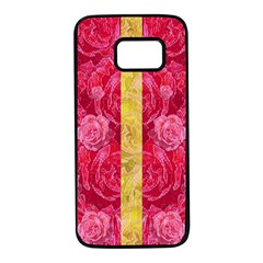 Rose And Roses And Another Rose Samsung Galaxy S7 Black Seamless Case by pepitasart