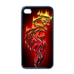 Dragon Fire Apple Iphone 4 Case (black) by BangZart
