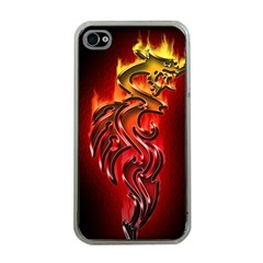 Dragon Fire Apple Iphone 4 Case (clear) by BangZart
