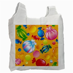 Sweets And Sugar Candies Vector  Recycle Bag (two Side)  by BangZart