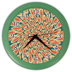 Stars Twirl Color Wall Clocks by linceazul