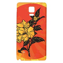 Vector Asian Flowers Galaxy Note 4 Back Case by BangZart