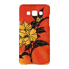 Vector Asian Flowers Samsung Galaxy A5 Hardshell Case  by BangZart