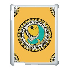 Madhubani Fish Indian Ethnic Pattern Apple Ipad 3/4 Case (white)